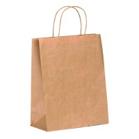 Kraft/brown paper carrier bag with twisted handles  220x100mm H290mm