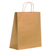 Kraft/brown paper carrier bag with twisted handles 0ml   H320mm