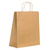 Kraft/brown paper carrier bag with twisted handles  270x180mm H290mm