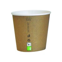"""Gobelet carton PLA """"Nature Cup"""" 450ml 90mm  H52mm"""