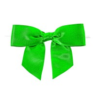 Green satin bow with link  86