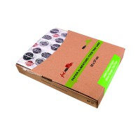 Greaseproof white paper with burger design in dispenser box  350x270mm