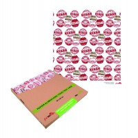 Greaseproof white paper with kebab design in dispenser box  400x380mm