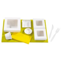 """Green cardboard insert for platter and """"Kray"""" boxes  440x270mm H25mm"""