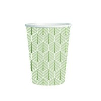 "Vaso de papel decorado ""Leaf"" 250ml Ø80mm  H90mm"