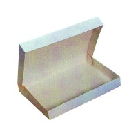 White cardboard lunch box  280x200mm H60mm