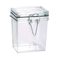 Tarro rectangular transparente PS  180ml 51x69mm H86mm