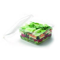 Square PLA clear container 1100ml 160x160mm H65mm