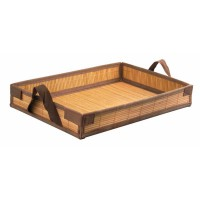 """Tray Bam"" bamboo folding meal tray  430x290mm H65mm"