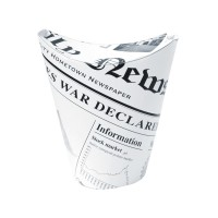 White newsprint closeable perforated snack cup 270ml Ø83mm  H118mm