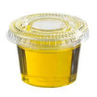 Clear round PLA portion cup 120ml Ø75mm