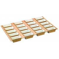 Cardboard tray with 20 rectangular baking molds  3 600x5 600mm