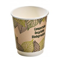 Double wall PLA paper cup 120ml 60mm  H90mm