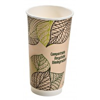 Double wall PLA paper cup 470ml 90mm  H159mm