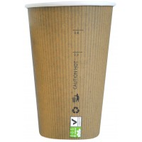 """Gobelet carton PLA """"Nature Cup"""" 340ml 90mm  H132mm"""
