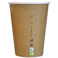 """Gobelet carton PLA """"Nature Cup"""" 230ml 80mm  H108mm"""