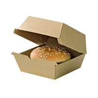 Micro-kraft reinforced cardboard burger box  178x155mm H80mm