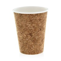 Cardboard and cork coffee cup 350ml 90mm  H136mm