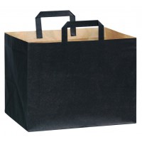Kraft/brown paper carrier bag with black printing  320x220mm H240mm