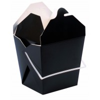 Black square pail box with handle 950ml 100x100mm H110mm