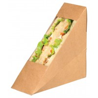 Triangle sandwich kraft simple à fenêtre  50x123mm H123mm