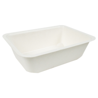 Sealable pulp tray 950ml 190x137mm H55mm