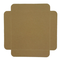 White cardboard square tray with foldable edges  170x170mm H20mm
