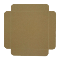 Brown cardboard square tray with foldable edges  190x190mm H20mm