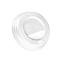 White PS plastic coffee cup lid   Ø62mm  H12mm