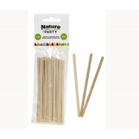 Wooden coffee stirrer with rounded end  5x1mm H110mm